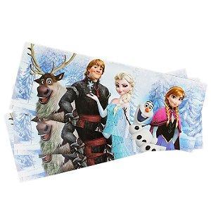 Adesivo Faixa Decorativa Parede Com Brilho Glitter Disney Frozen Original 121,8cm