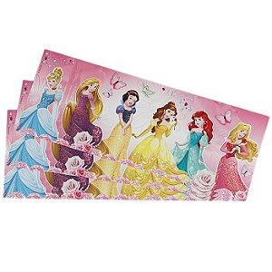 Adesivo Faixa Decorativa Parede Com Brilho Glitter Disney Princesas Original 121,8cm