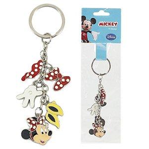 Chaveiro Disney Minnie Mouse Penduricalho Em Metal