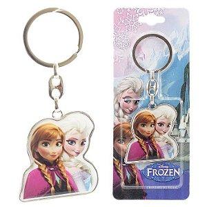 Chaveiro Disney Frozen Princesa Anna Rainha Elsa Em Metal
