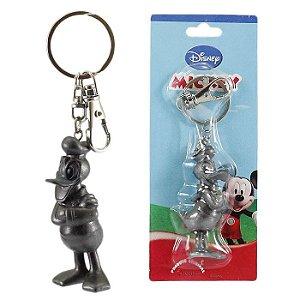 Chaveiro Disney Pato Donald Cinza Em Plástico