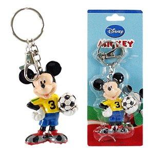 Chaveiro Disney Mickey Mouse Seleção Brasileira Em Plástico