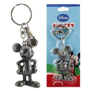 Chaveiro Disney Mickey Mouse Cinza Em Plástico