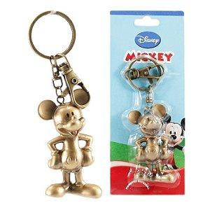 Chaveiro Disney Mickey Mouse Dourado Em Plástico