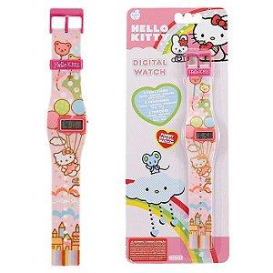 Relógio De Pulso Digital Infantil Hello Kitty Castelo DMW2608