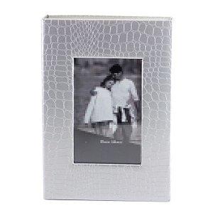 Álbum Para 200 Fotos 10x15 Com Capa Prata e Foto Janela