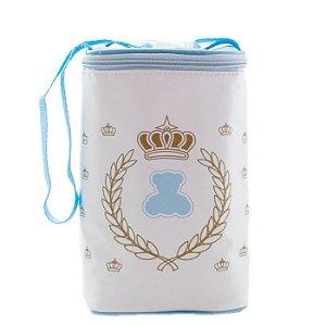 Frasqueira Térmica e Porta Mamadeira Duplo Grande Lipi Baby Azul