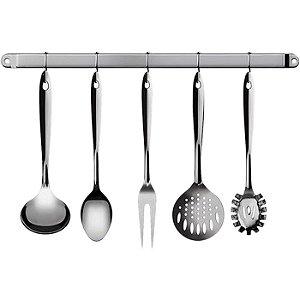 Conjunto de Utensílios Para Cozinha 6 Peças Inox - Euro Home