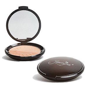 Kit Pó Facial Duplo Com Espelho Jasmyne V309
