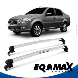 Rack Eqmax Fiat Siena EL Essence 08/14 New Wave prata