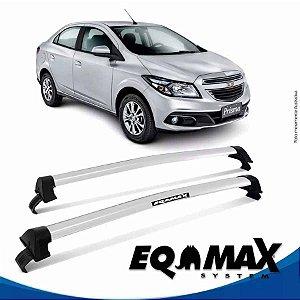 Rack Teto Eqmax New Wave Chevrolet Prisma Lt 13/15 Prata
