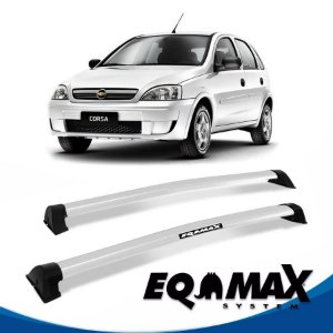 Rack Eqmax Chevrolet Corsa Joy Hatch 4 Pts Wave 02/12 prata