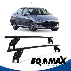 Rack Aço Teto Eqmax Peugeot 206 4 Pts 99/10 Sedan