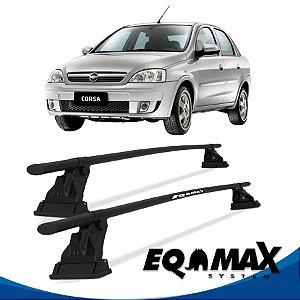 Rack Aço Teto Eqmax Chevrolet Corsa Premiun 4 Pts 02/12 Sedan