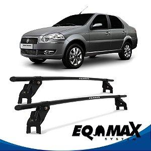 Rack Aço Teto Eqmax Fiat Siena EL Essence 4 Pts 08/14