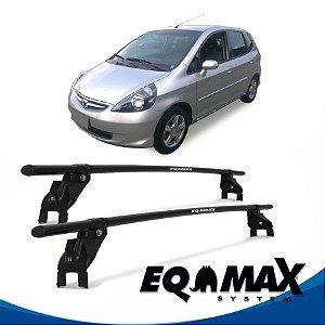 Rack Aço Teto Eqmax Honda Fit 4 Pts 04/08