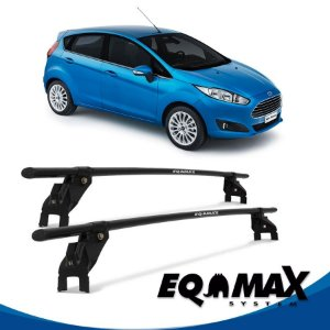 Rack Aço Teto Eqmax Ford New Fiesta Nacional 4 Pts 2014 Hatch