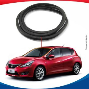 Borracha Superior e Lateral Parabrisa Nissan Tiida 07/16