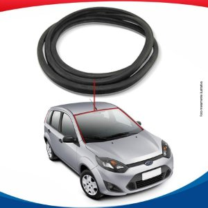 Borracha Superior e Lateral Para Parabrisa Ford Fiesta Rocan Hatch 02/12