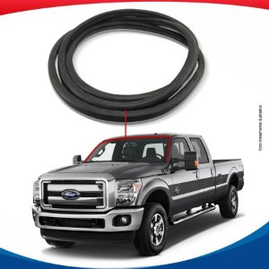 Borracha Superior e Lateral Parabrisa Ford F-350 S/ Ferragem 99/15