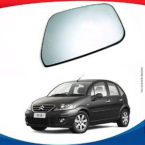 Vidro de porta para o Citroën C3 c/ suporte 09/11.