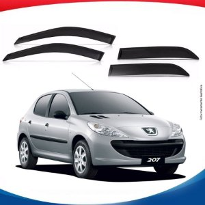 Calha de Chuva Peugeot 207 Hatch 4 Portas 00/...