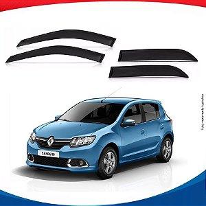 Calha de Chuva Renault Sandero 4 Portas Novo 14/...