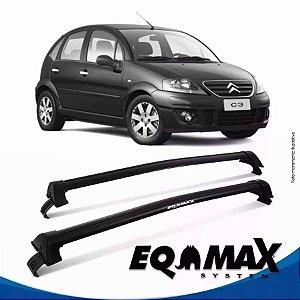Rack Teto Eqmax Citroen C3 04/12 Bagageiro New Wave Preto