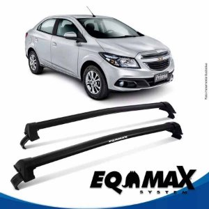 Rack Teto Eqmax New Wave Chevrolet Prisma Lt 13/16 Preto