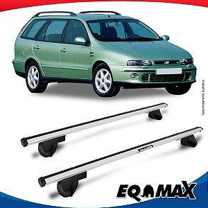 Rack Teto Alpha Aluminio Prata Fiat Marea Weekend 98/07