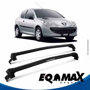 Rack Eqmax Peugeot 207 4P New Wave 99/14 preto