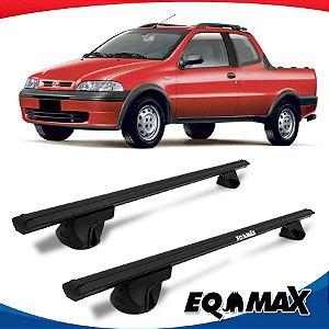 Rack Teto Alpha Aluminio Preto Fiat Strada Adventure 02/07