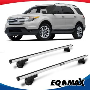 Rack Teto Alpha Aluminio Prata Ford Edge 09/14