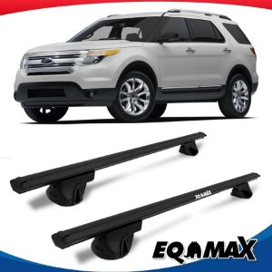 Rack Teto Alpha Aluminio Preto Ford Edge 09/14