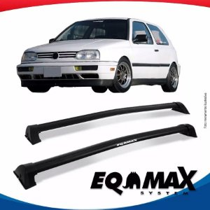 Rack Eqmax VW Golf G3 2 Portas Wave 94/98 Preto