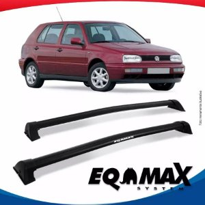 Rack Wave Teto Eqmax VW Golf G3 4 Portas 94/98 Preto
