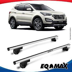 Rack Teto Alpha Aluminio Prata Hyundai Santa Fe 01/13