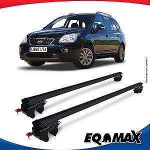 Rack Teto Sigma Aluminio Preto Kia Carens MPV 02/13