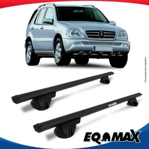 Rack Teto Alpha Aluminio Preto Mercedes  ML 230 98/04