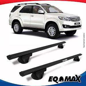 Rack Teto Alpha Aluminio Preto Toyota Hilux SW4 06/14