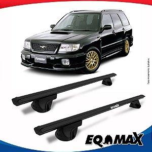 Rack Teto Alpha Aluminio Preto Subaru Forester 98/01