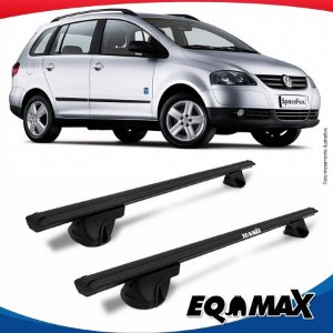 Rack Teto Alpha Aluminio Preto Volkswagen Space Fox 06/14