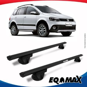 Rack Teto Alpha Aluminio Preto Volkswagen Space Cross 12/15