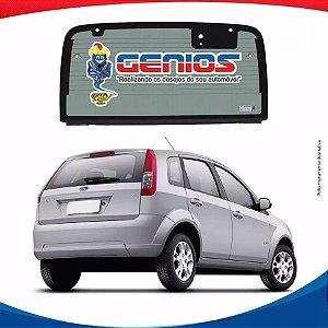 Vigia Térmico Ford Fiesta Hatch 03/11 Vidro Traseiro Com Furo