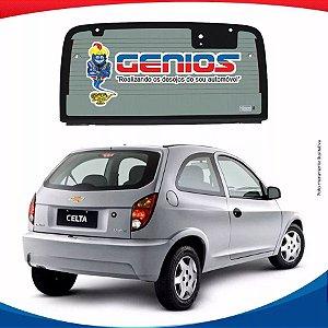 Vigia Chevrolet Celta 00/06 Vidro Traseiro Termico Com Furo