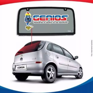 Vigia Liso Chevrolet Corsa Hatch 5 Portas 02/... Vidro Traseiro Sem Furo