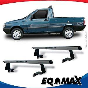 Rack Eqmax para Caçamba Fiat Fiorino Aluminio Prata
