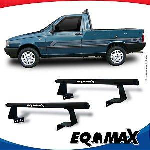 Rack Eqmax para Caçamba Fiat Fiorino Aluminio Preto
