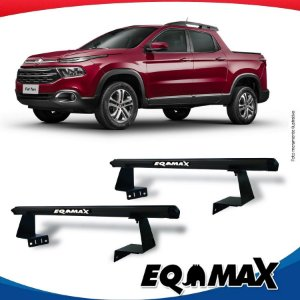Rack Eqmax para Caçamba Fiat Toro Aluminio Preto