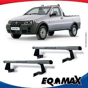 Rack Eqmax para Caçamba Fiat Strada Aluminio Prata